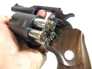 Charter Arms Bulldog revolver with the cylinder open for concealed carry