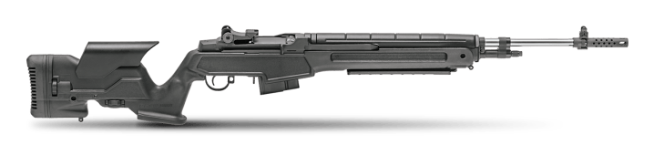 Springfield M1A Loaded, black stock , right profile