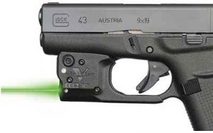 Glock 43 with Viridian Instant on laser for Massad Ayoob