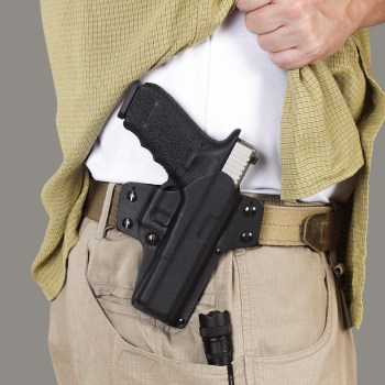 Galco Double TIme holster worn outside of the pants