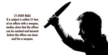 21-foot rule meme of a knife wielding attacker