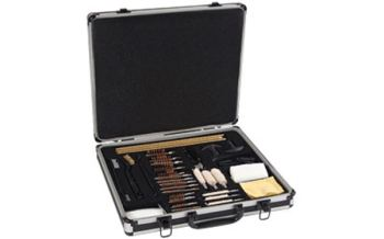 Allen 60-piece firearm cleaning kit in aluminum case