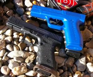 LaserLyte pistol, Reaction Tyme Trainer and Glock pistol
