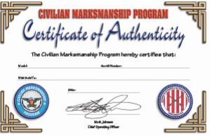 CMP Certificate of Authenticity