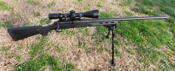Remington 700 Varmint rifle with March Rifle Scopes scope