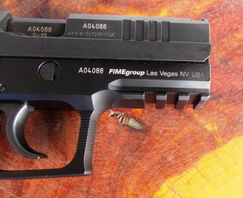 Picatinny rail on the Rex Zero CP pistol