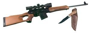 AK Rifle & Knife