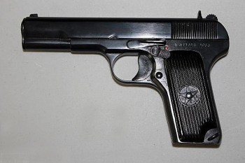 Romanian Tokarev pistol left profile