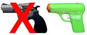 gun emojis