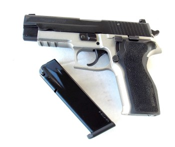 SIG P226 two tone finish and Picatinny rail and magazine