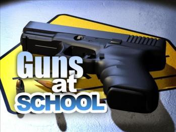 Guns at school graphic