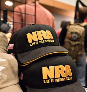 NRA Life Member hats national rifle association