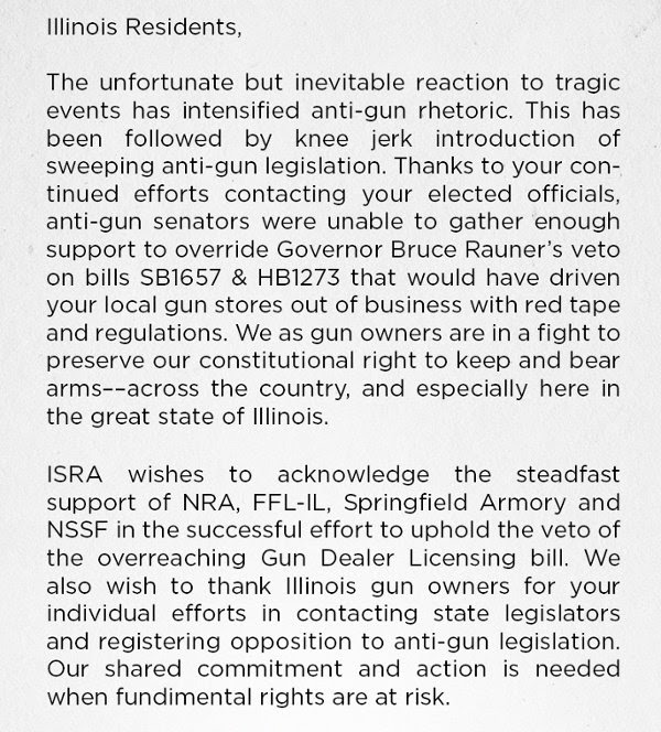 Illinois State Rifle Association statement