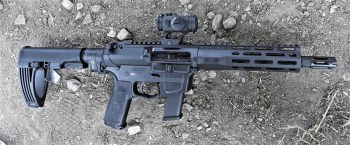 Wilson Combat AR9 with Aimpoint red dot scope