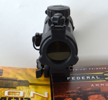front view of a TruGlo red dot sight