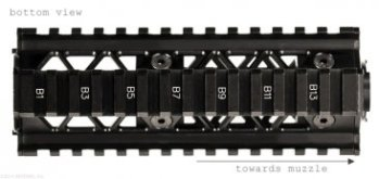 Precision Quad Rail Handguard System bottom