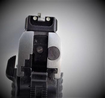 Sight picture on a Ruger SR1911 Commander