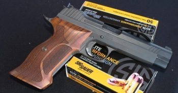 SIG Sauer pistol and ammunition for gun shop owners case