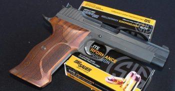 SIG Sauer pistol and ammunition for gun shop owners case