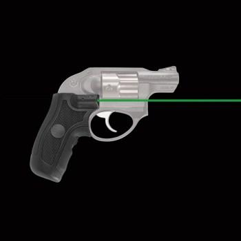 Revolver wearing green Crimson Trace laser grips