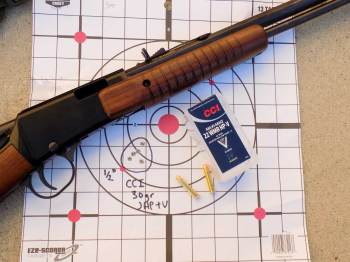 Henry Octagon rifle with CCI ammunition