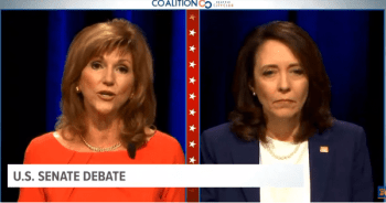 Republican Susan Hutchison debated Democrat U.S. Sen. Maria Cantwell Monday in Washington state Senate Debate