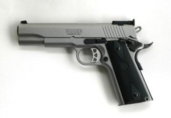 Ruger SR1911 10mm pistol profile left