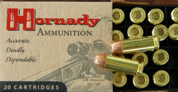 Hornady 10mm ammunition box and cartridge