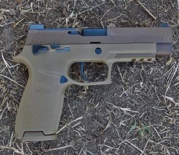 SIG P320 M17 pistol right profile
