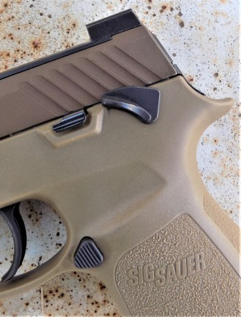 safety on the SIG P320 pistol