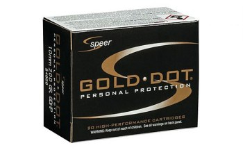 Speer Gold Dot 10mm ammunition box