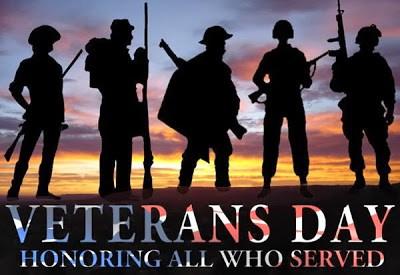 Patriotic Veterans Day poster