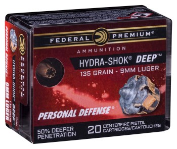 Federal Premium Hydra-Shok Deep personal defense ammunition