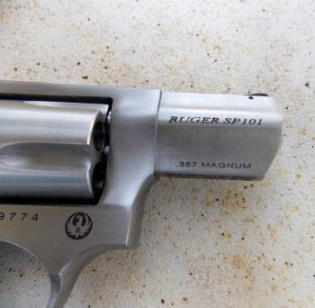 Ruger SP101 barrel
