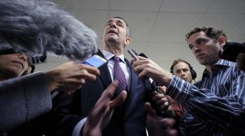 Governor Norton at a press conference regarding new gun control proposals