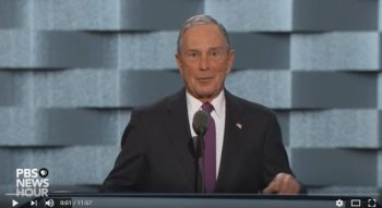 Michael Bloomberg speaking on PBS about gun control