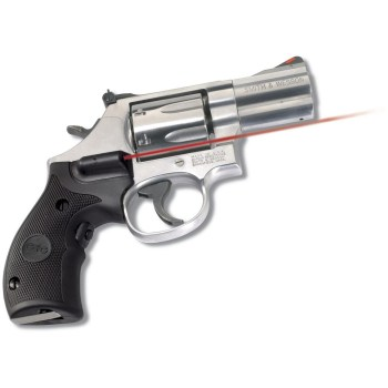 Crimson Trace grip laser on a Smith and Wesson revolver