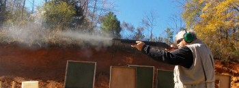 Muzzle blast from a 12 gauge shotgun
