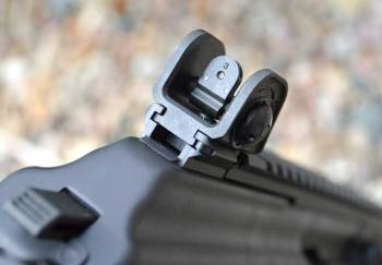 Tritium rear sight on the Galil Ace