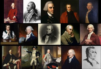 pictures of the Sons of Liberty for the four boxes of liberty continuum