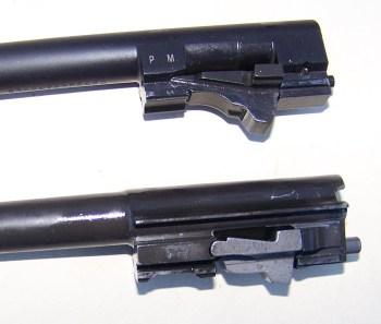 Locking wedge on a pistol barrel