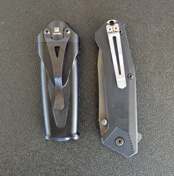 SureFire Stiletto Combat light left, pocket knife right