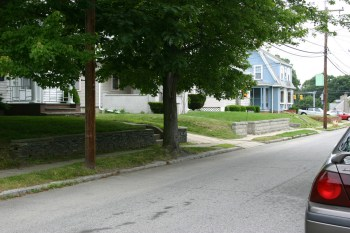 Street view of a residential street