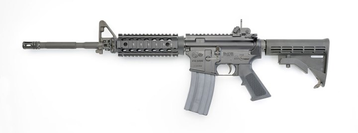 Colt M4 rifle left profile black