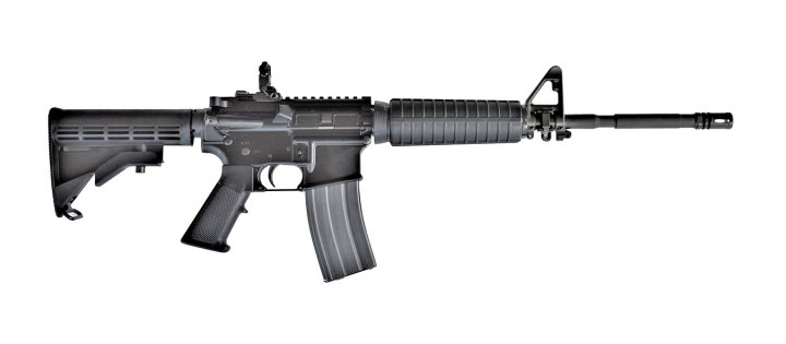 Colt LE carbine with standard forend right profile black