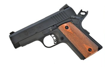 Citadel 9mm 1911 handgun left profile cocked and locked