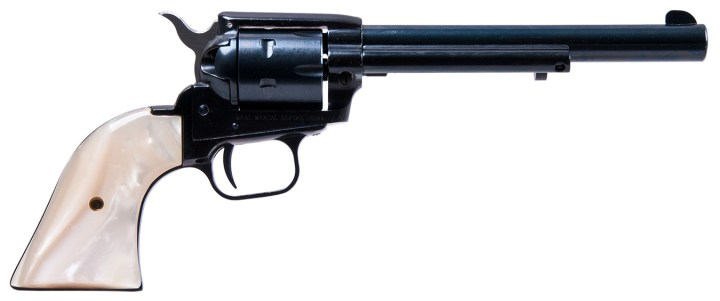 Heritage Rough Rider revolver right profile with ivory grips