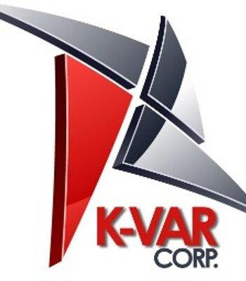 K-Var Corp red white and black logo