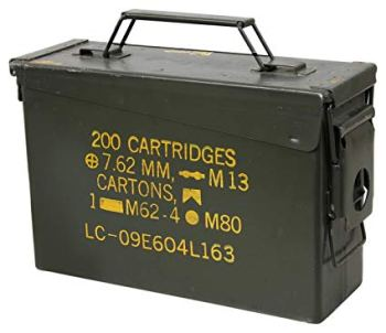 .30 caliber ammo can for ammo storage and transport