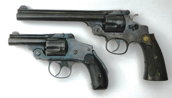 Two old Smith and Wesson revolvers